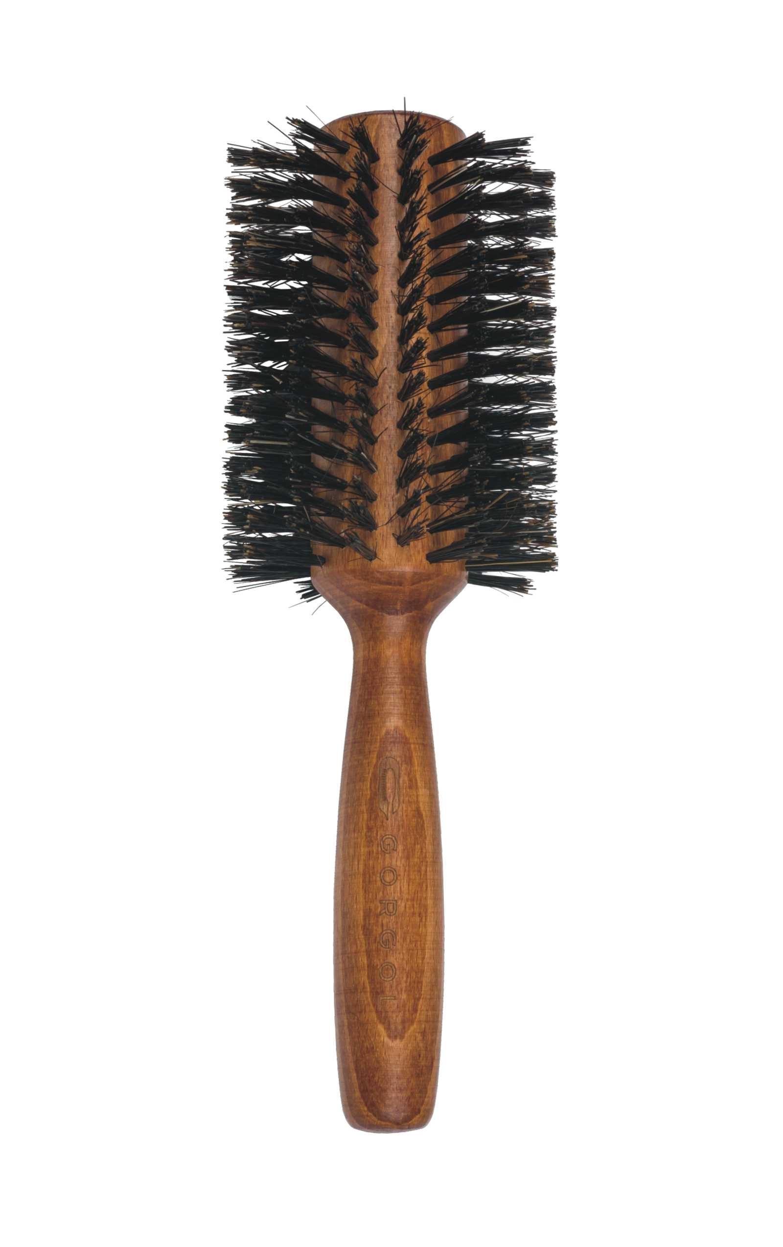 Okrągła szczotka z włosiem z dzika / rozmiar:34 / 16 rzędów