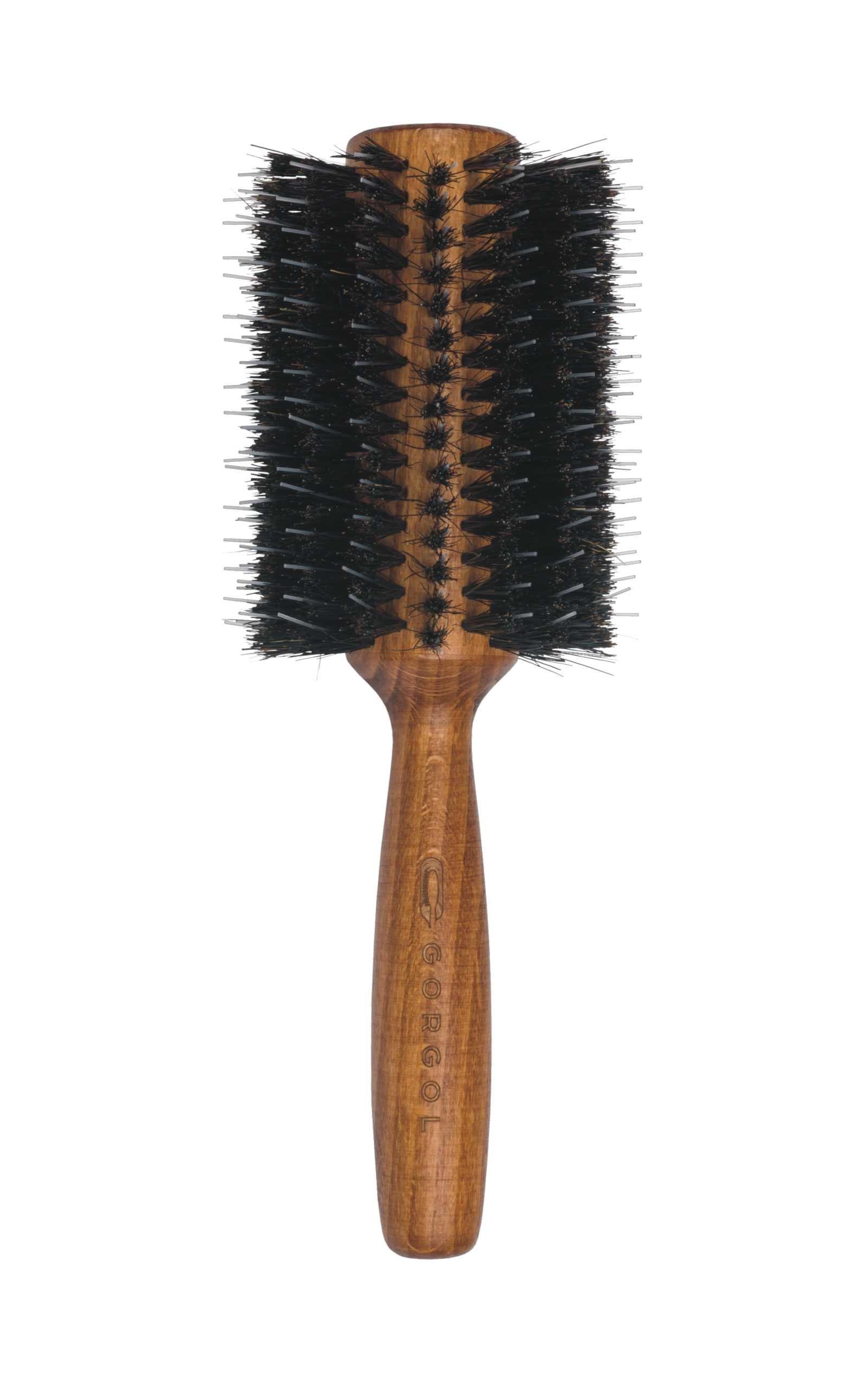 Okrągła szczotka z włosiem z dzika - rozczesywacz / rozmiar:34 / 16 rzędów