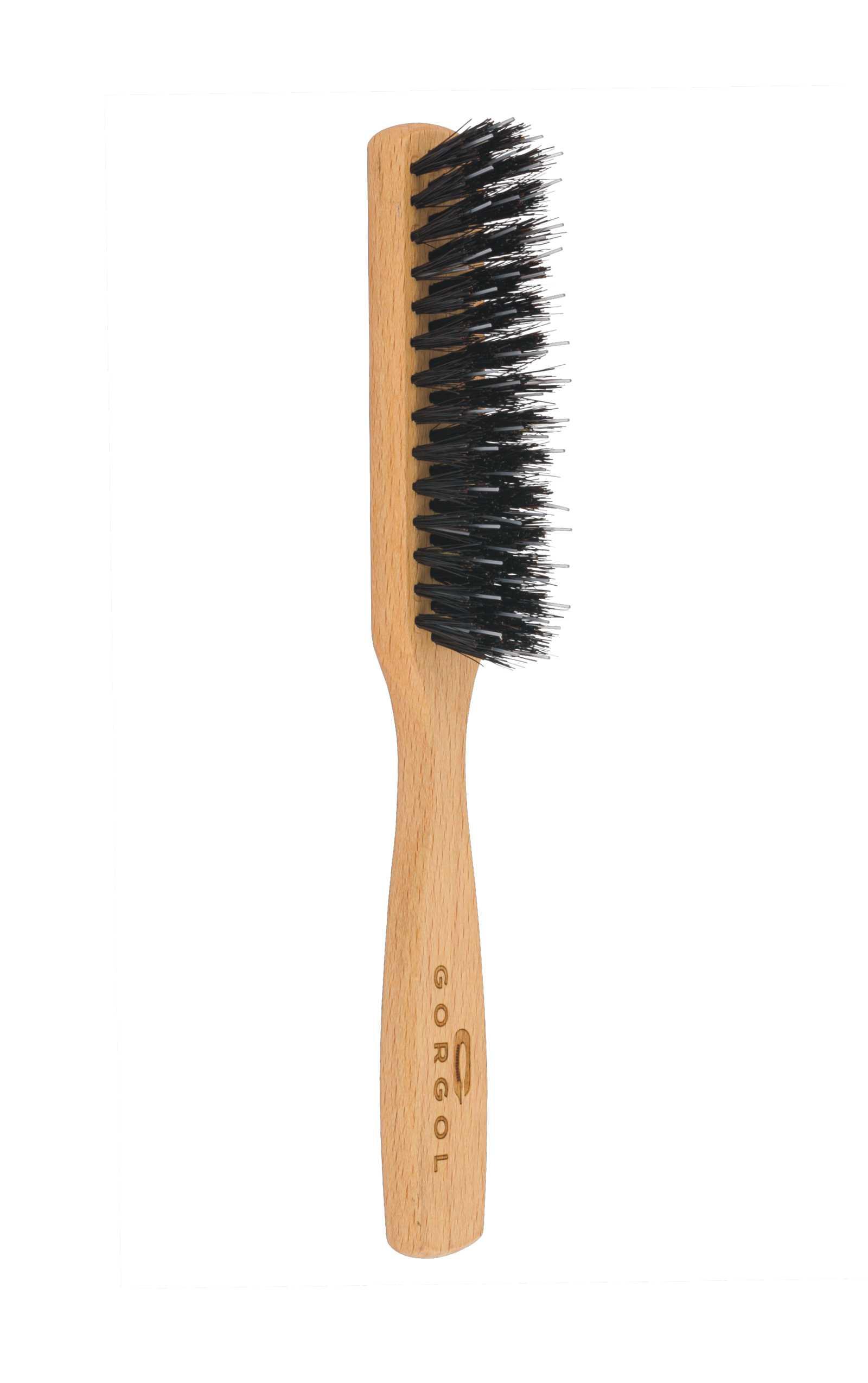 Szczotka z włosiem z dzika 4 rzędy - rozczesywacz