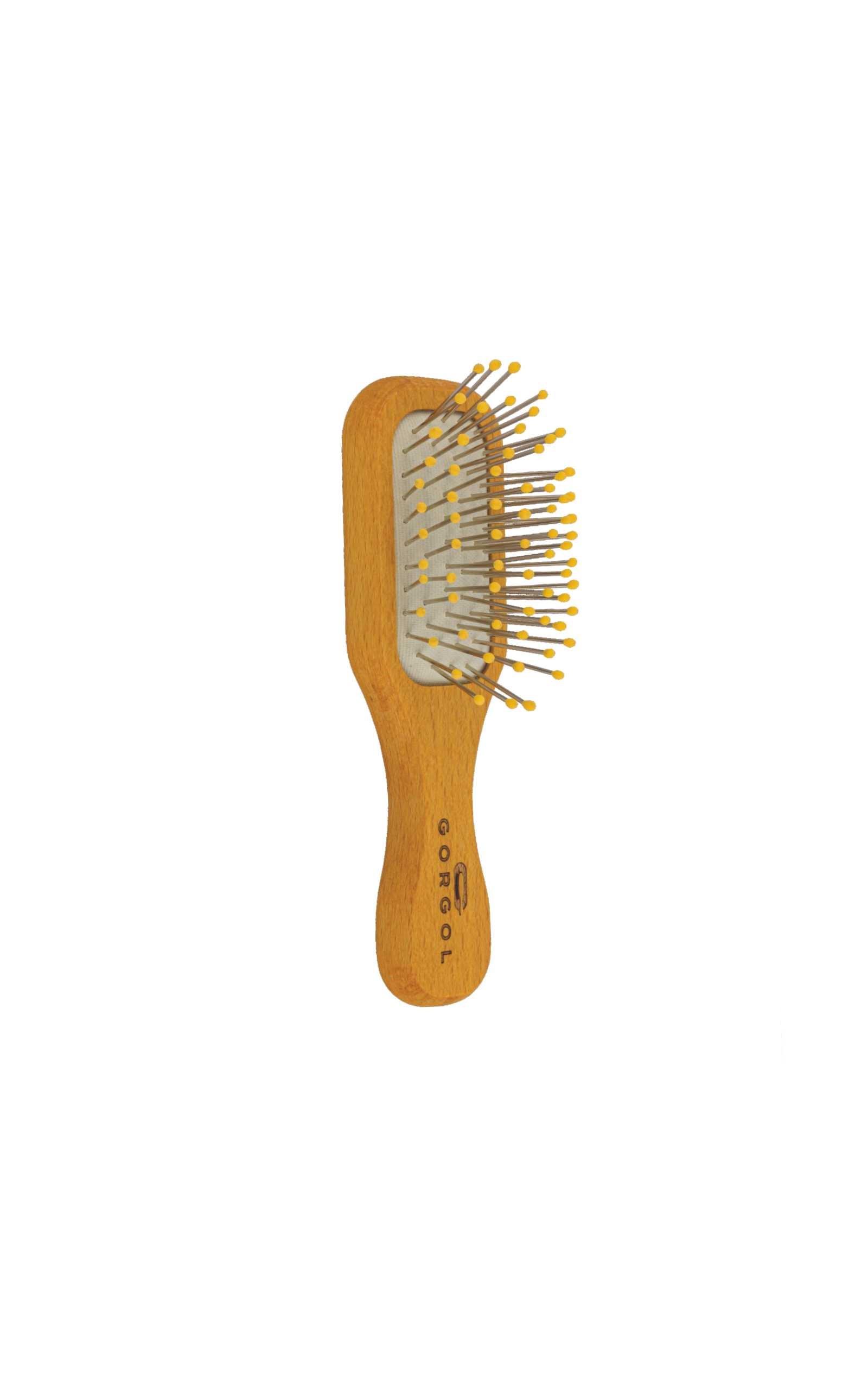 Szczotka mini brush metalowa szpilka z kulką kolorową