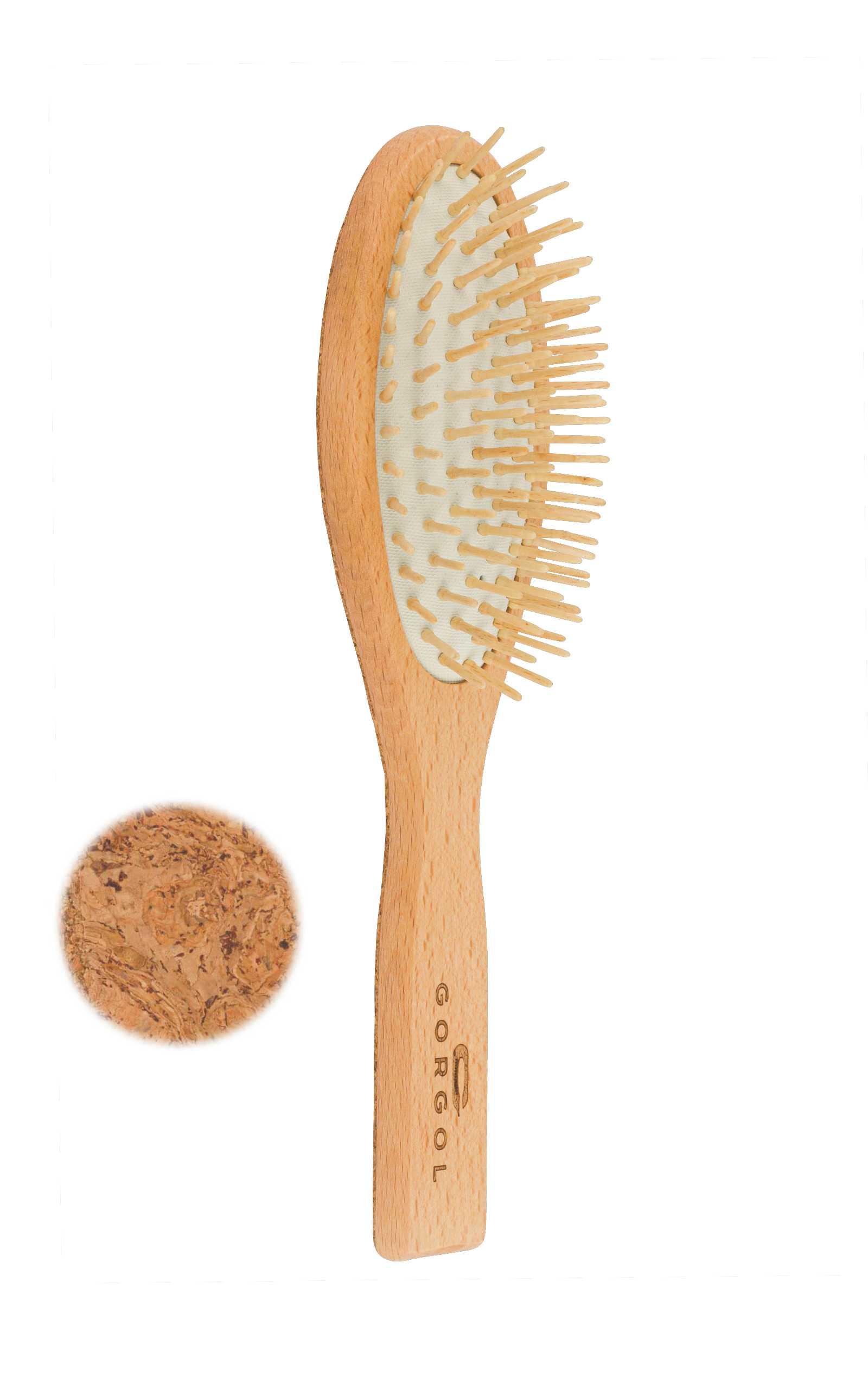 Szczotka z drewnianą szpilką - korkowa