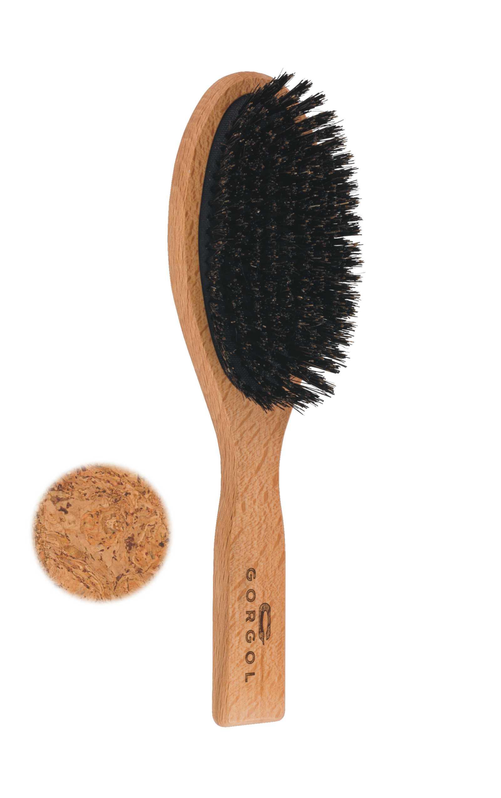 Szczotka z włosiem z dzika - korkowa